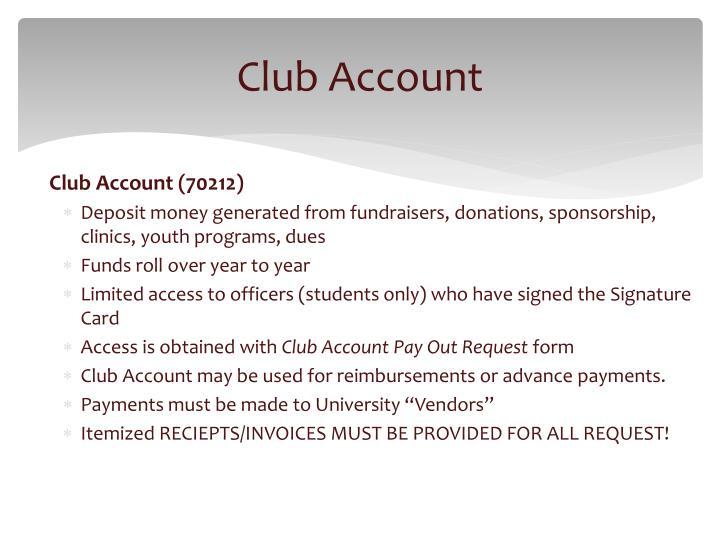 Club Account