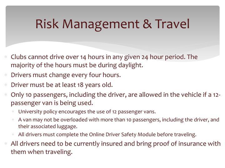 Risk Management & Travel
