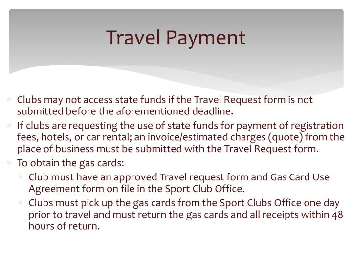Travel Payment
