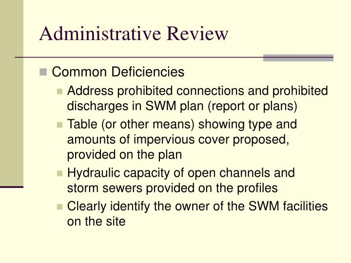 Administrative Review