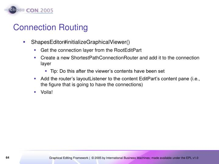Connection Routing