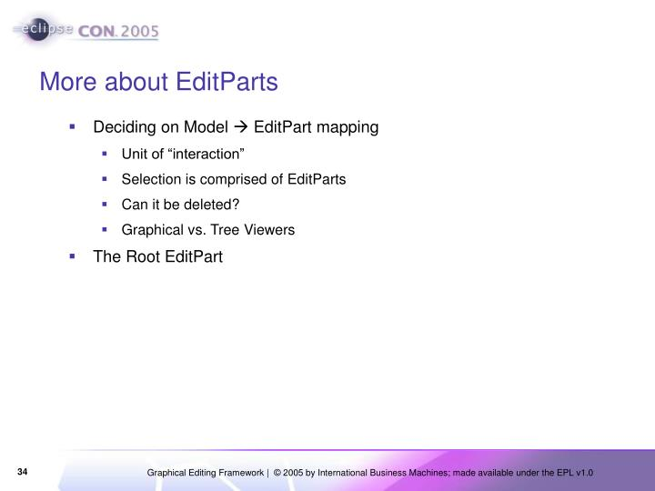 More about EditParts