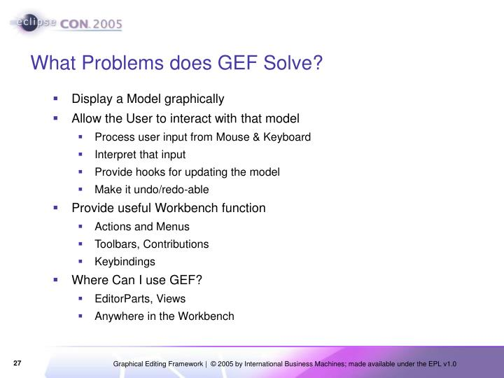 What Problems does GEF Solve?
