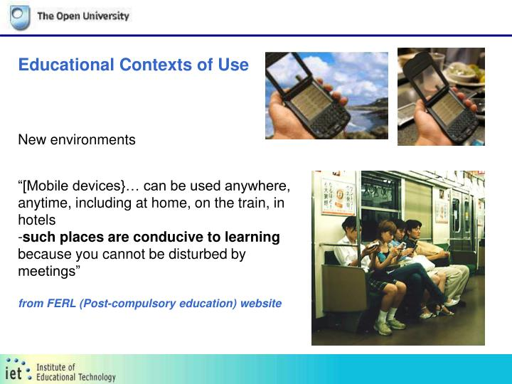 Educational Contexts of Use