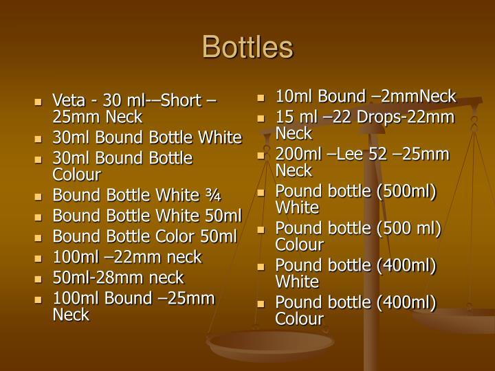 Veta - 30 ml-–Short –25mm Neck