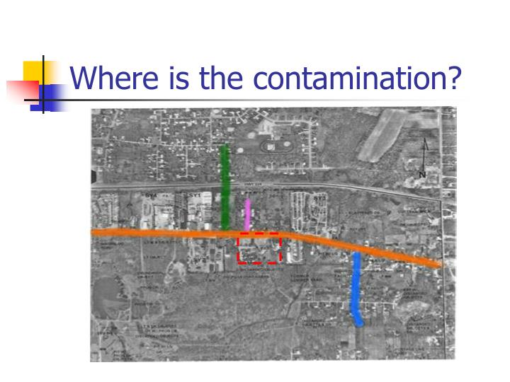 Where is the contamination?
