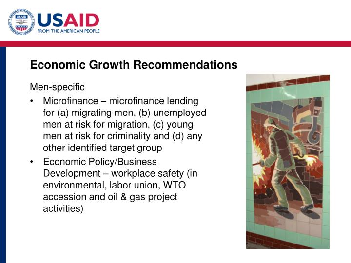 Economic Growth Recommendations