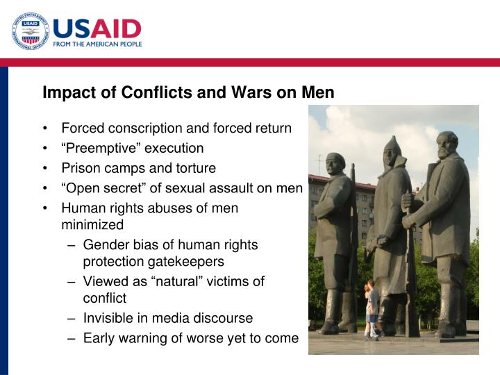Impact of Conflicts and Wars on Men
