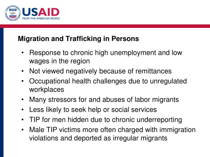 Migration and Trafficking in Persons