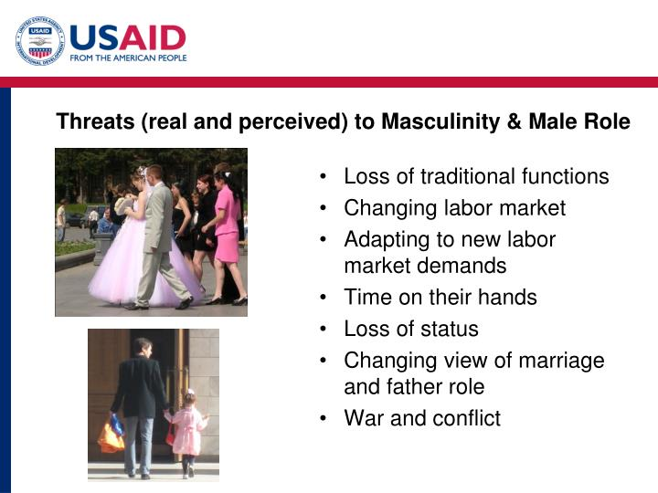Threats (real and perceived) to Masculinity & Male Role