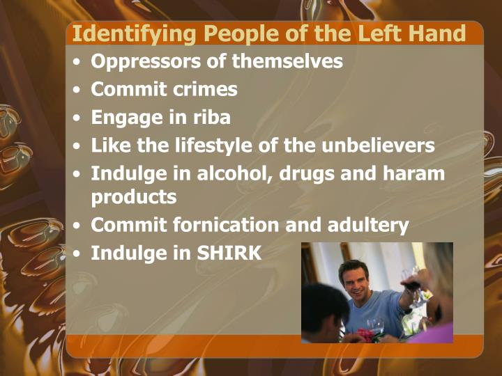Identifying People of the Left Hand