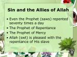 sin and the allies of allah