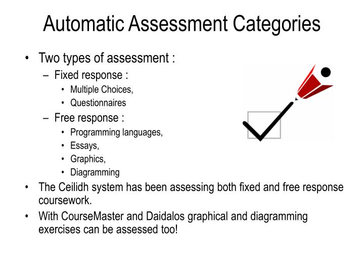 Automatic Assessment Categories