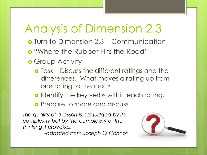 Analysis of Dimension 2.3