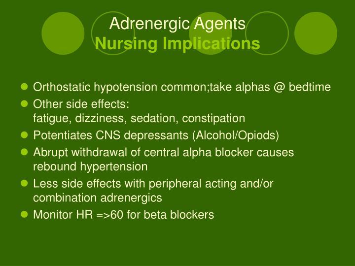 Adrenergic Agents