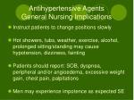 antihypertensive agents general nursing implications1