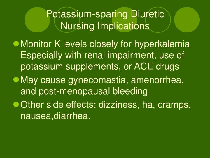 Potassium-sparing Diuretic