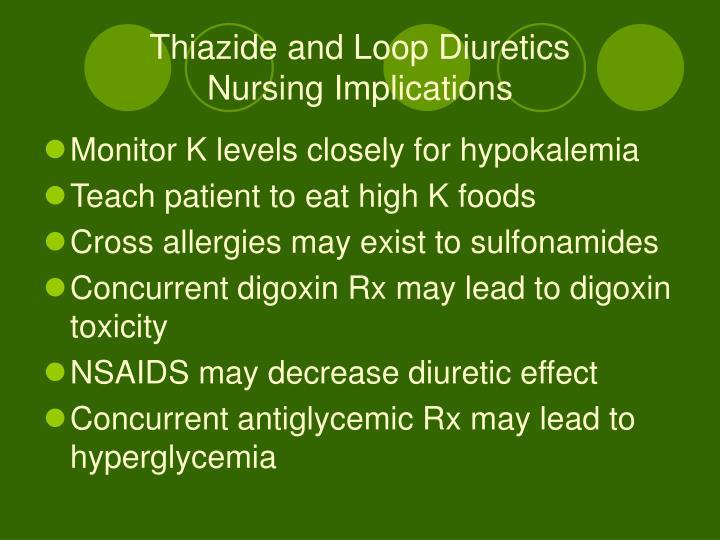 Thiazide and Loop Diuretics