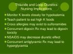 thiazide and loop diuretics nursing implications