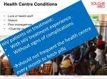 health centre conditions1