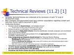 technical reviews 11 2 1