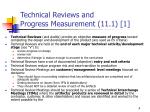technical reviews and progress measurement 11 1 1