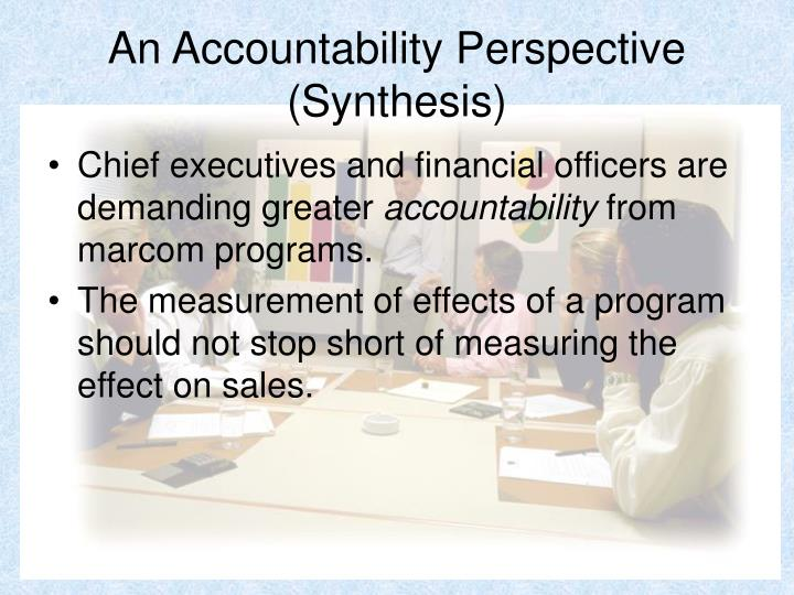 An Accountability Perspective (Synthesis)