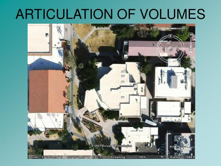 ARTICULATION OF VOLUMES