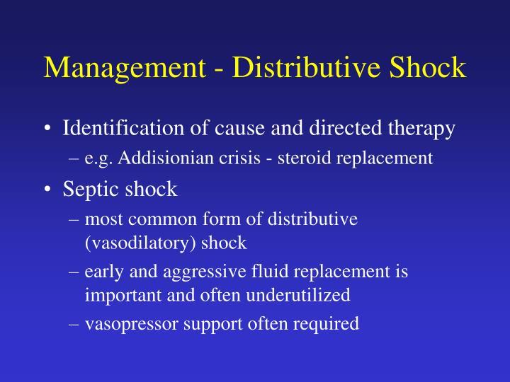 Management - Distributive Shock