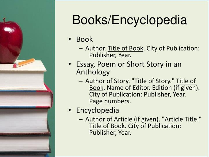 Books/Encyclopedia