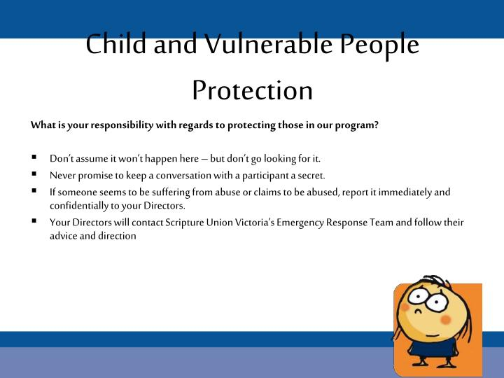Child and Vulnerable People Protection