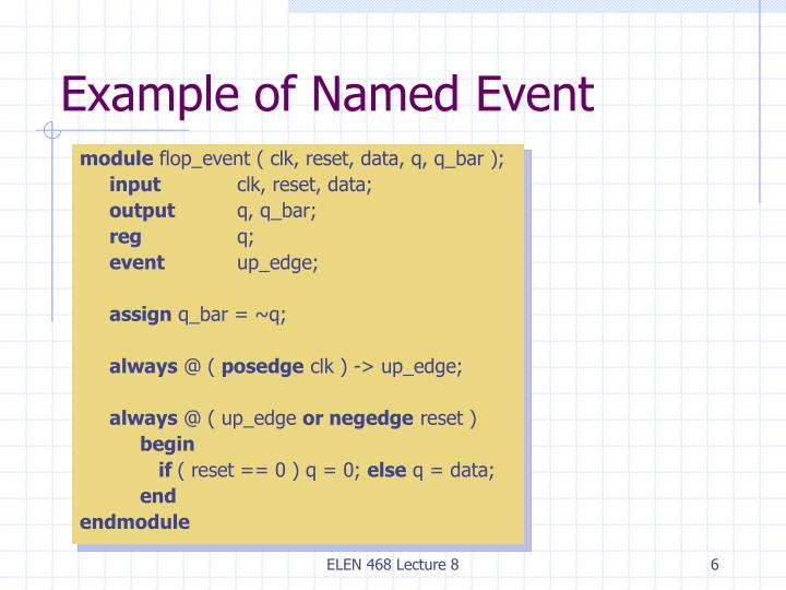Example of Named Event