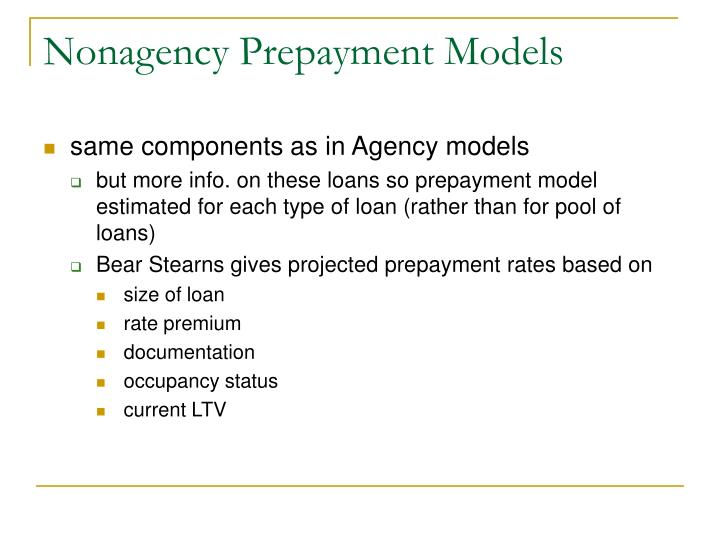 Nonagency Prepayment Models
