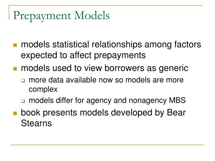 Prepayment Models