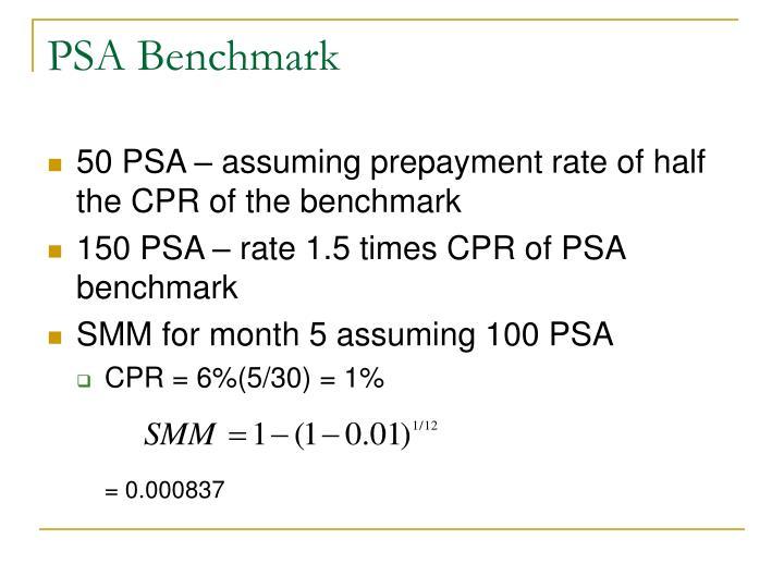 PSA Benchmark