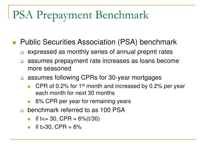 PSA Prepayment Benchmark