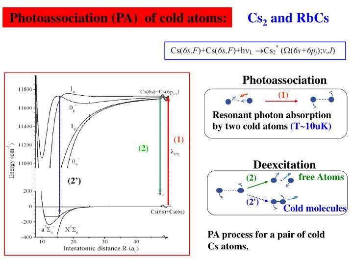 Photoassociation
