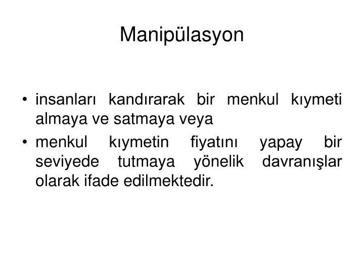 Maniplasyon