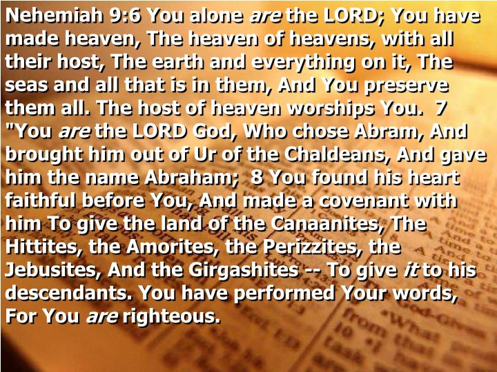 Nehemiah 9:6 You alone