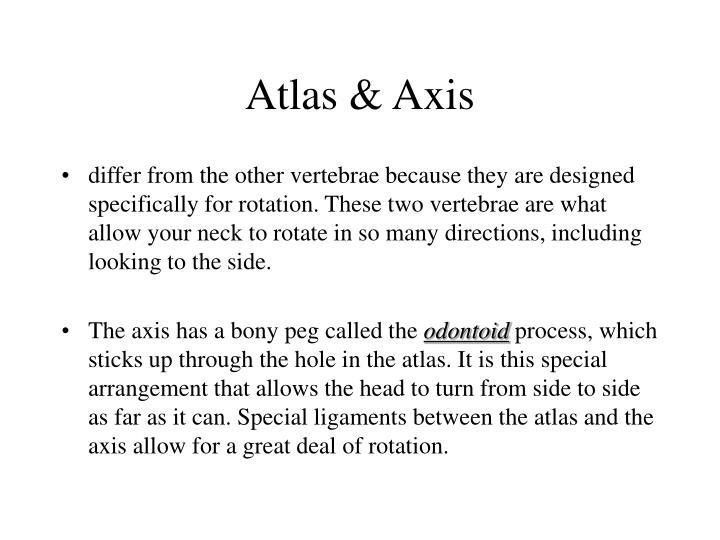 Atlas & Axis