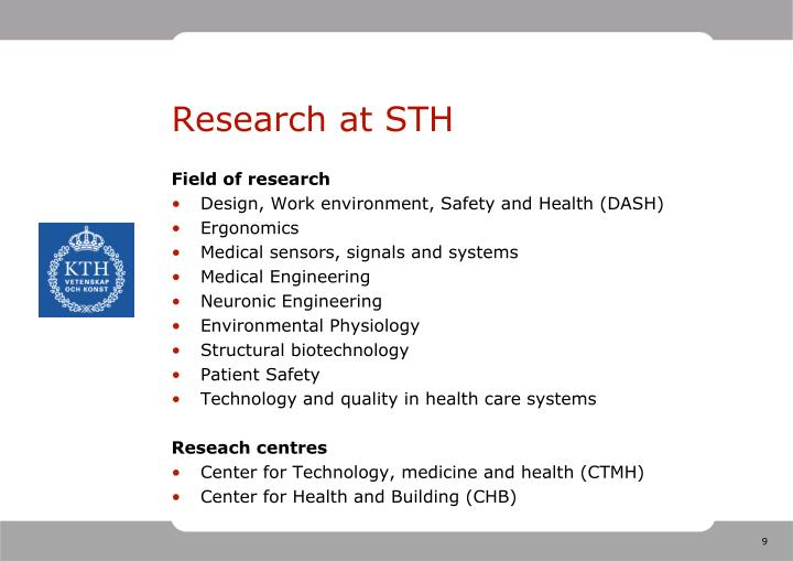 Research at STH