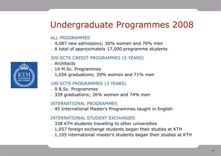 Undergraduate Programmes 2008