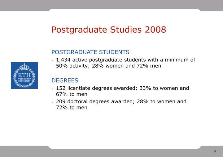 Postgraduate Studies 2008