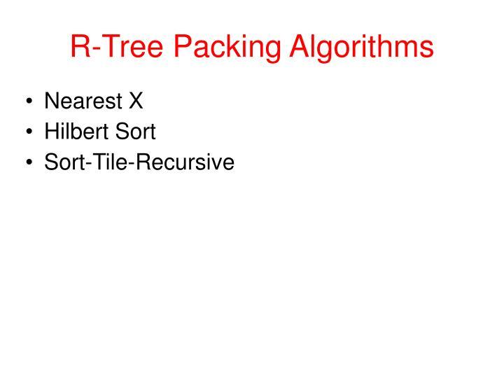 R-Tree Packing Algorithms