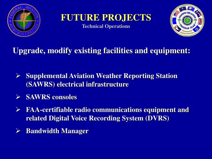 Future projects technical operations