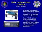 radio communications and dvrs technical operations