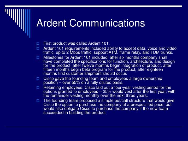 Ardent Communications