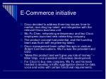 e commerce initiative