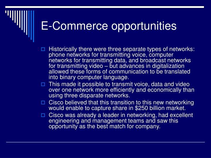 E-Commerce opportunities