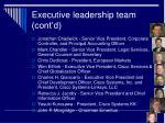 executive leadership team cont d